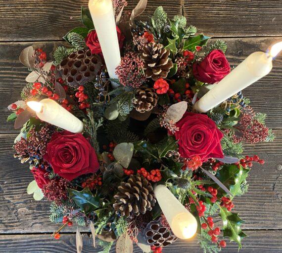 The Festive Advent Wicker Wreath