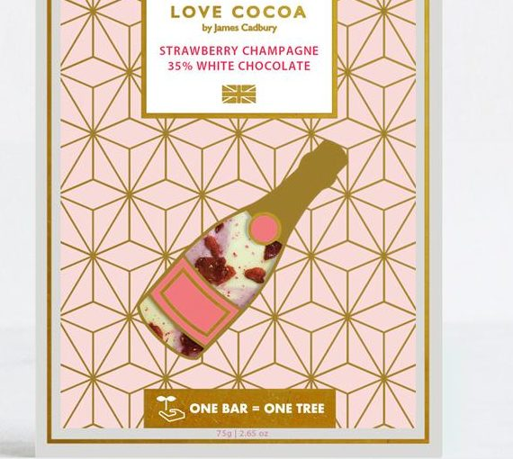 Love Cocoa White Chocolate, Strawberry, West Malling