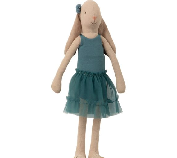 Maileg Bunny Size 3, Ballerina, Petrol, Kent