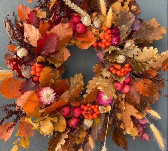 Autumn Wreath, Saffron - West Malling, Kent